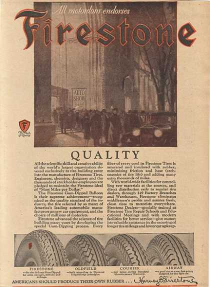 Firestone's Science (1927)