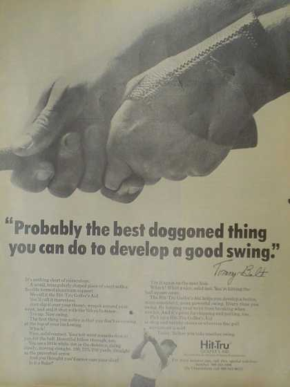 Hit Tru golfers aid. Best doggoned thing you can do to develop a good swing (1970)