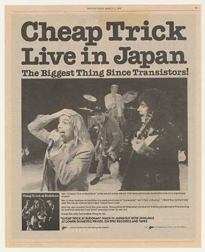 Cheap Trick at Budokan Live Japan Photo (1979)