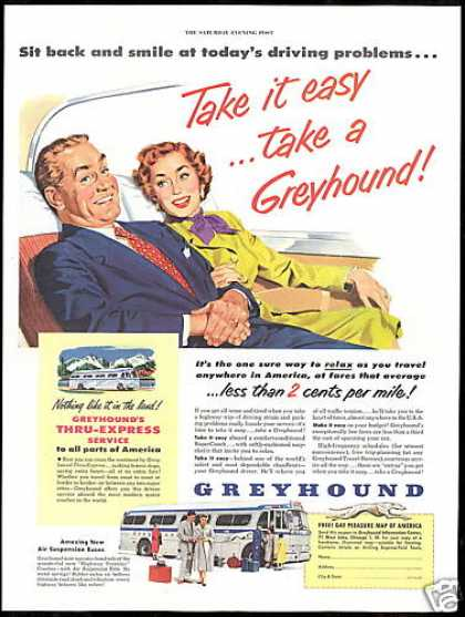 Greyhound Bus Travel Thru Express (1953)