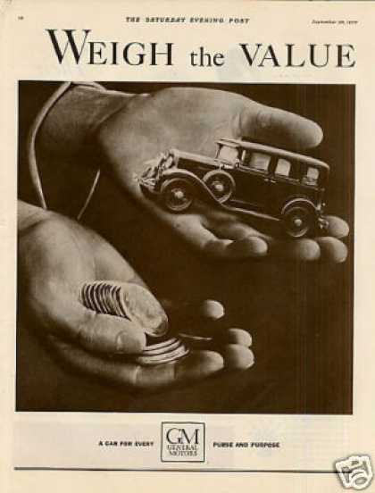General Motors Ad 2 Page (1930)