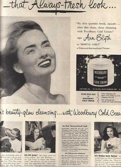 Woodbury Cold Cream – Ann Blyth (1947)