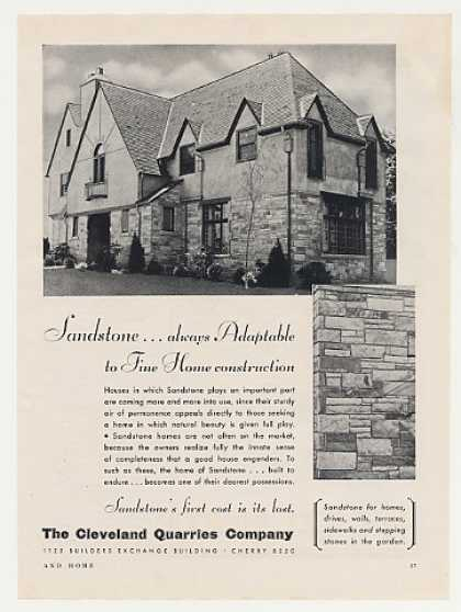 Cleveland Quarries Sandstone Home House Photo (1931)