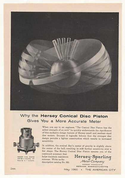 Hersey-Sparling Conical Disc Piston Water Meter (1960)