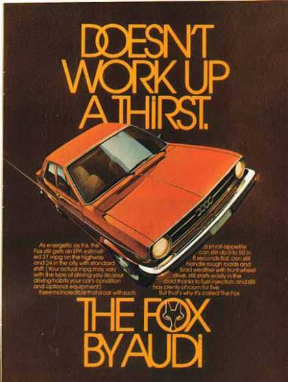 Audi Car – Fox – Red (1976)