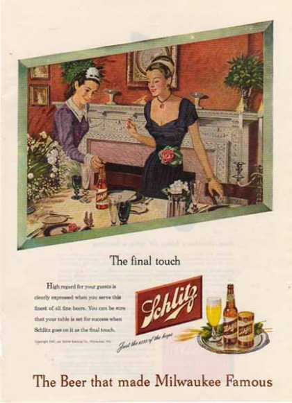 Schlitz Brewing Company – The Final Touch (1947)