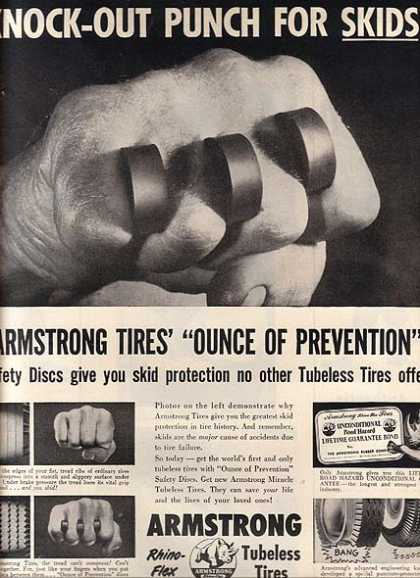 Armstrong's Rhino-Flex Tubeless Tires (1955)