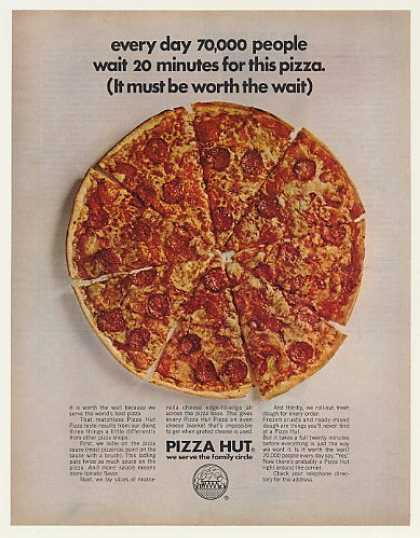Pizza Hut Restaurant Pizza Worth the Wait (1970)