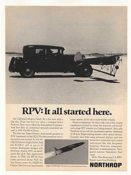 Northrop RPV RP-4 Drone Started in 1939 Packard (1973)
