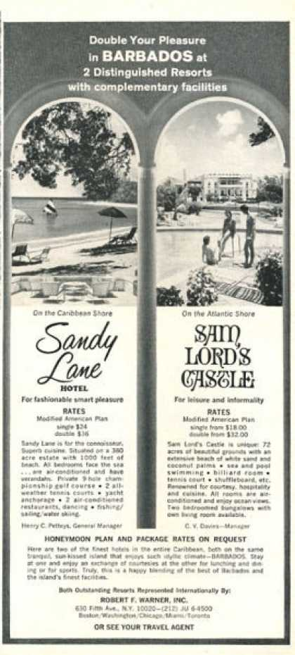 Barbados Resorts Sandy Lane Sam Lord Castle (1966)