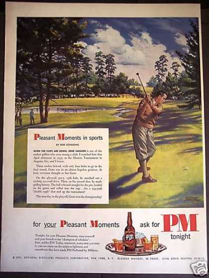 Golfer Gene Sarazen at 1935 Masters Pm Whiskey (1951)