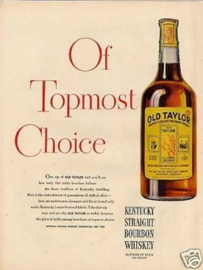 Old Taylor Bourbon Whiskey (1946)