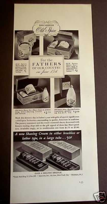 Old Spice After-shave Lotions Soap Father's Day (1941)