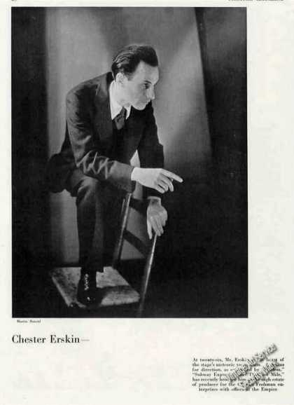 Chester Erskin at Age 26 Photo Theater Feature (1930)