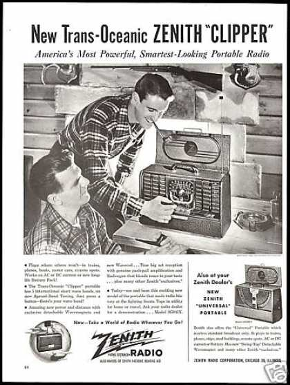 Trans Oceanic Zenith Clipper Portable Radio (1946)