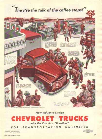 Chevrolet Trucks – Coffee Shop Talk… – Sold (1947)