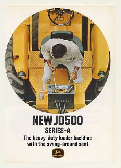 John Deere JD500 Series-A Loader Backhoe 4-Page (1967)