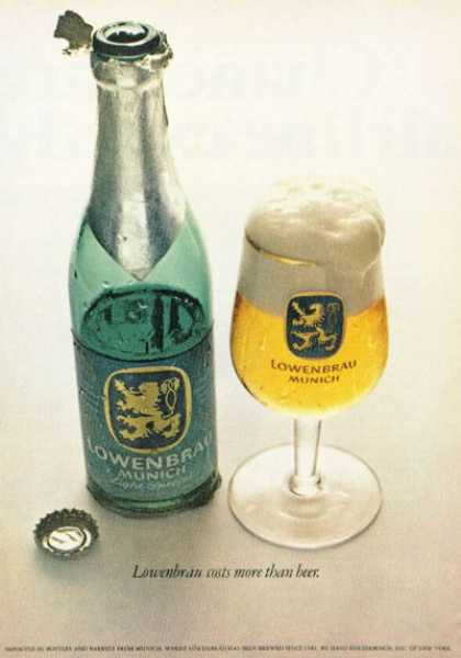 Lowenbrau Munich Beer Bottle Glass (1972)