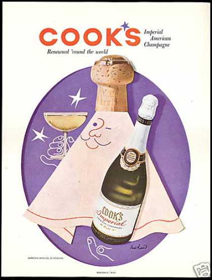 Cook's Imperial Champagne Paul Rand Cork Art (1954)