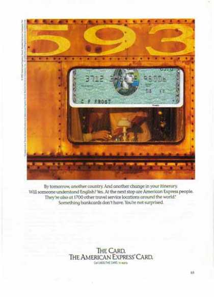 American Express – Railroad Dinning Car (1992)