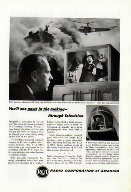 RCA – Airborne Television – News in the making... (1946)