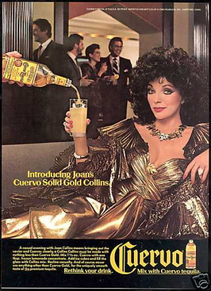 Joan Collins Photo Cuervo Tequila (1987)