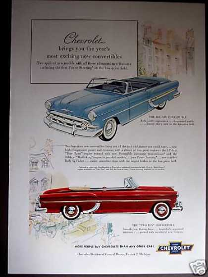 Chevrolet Cars Bel Air & Two-ten Convertibles (1953)