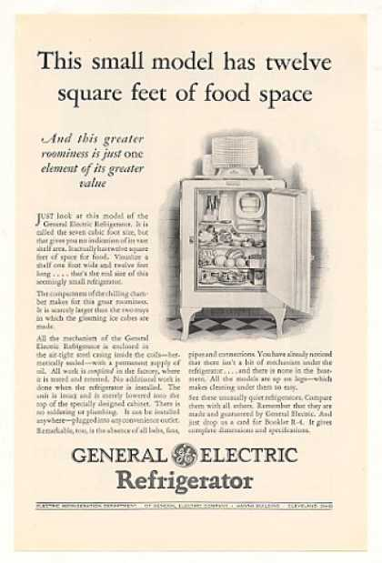 GE General Electric 7 Cubic Foot Refrigerator (1928)