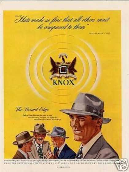 Knox Bound Edge Hat (1949)