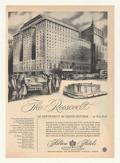 The Roosevelt Hotel New York Hilton Hotels (1952)