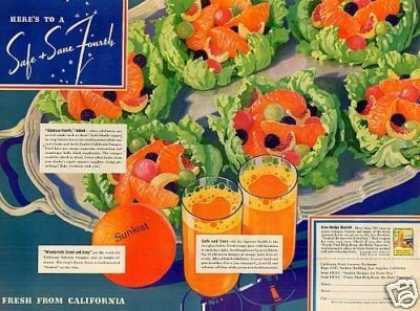 Sunkist Oranges Color (1937)