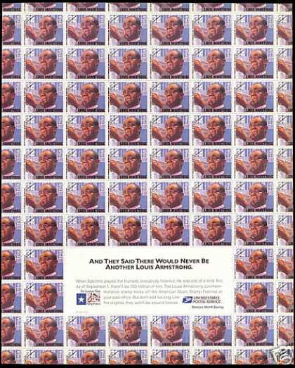 US Postal Service Louis Armstrong Stamps Promo (1995)