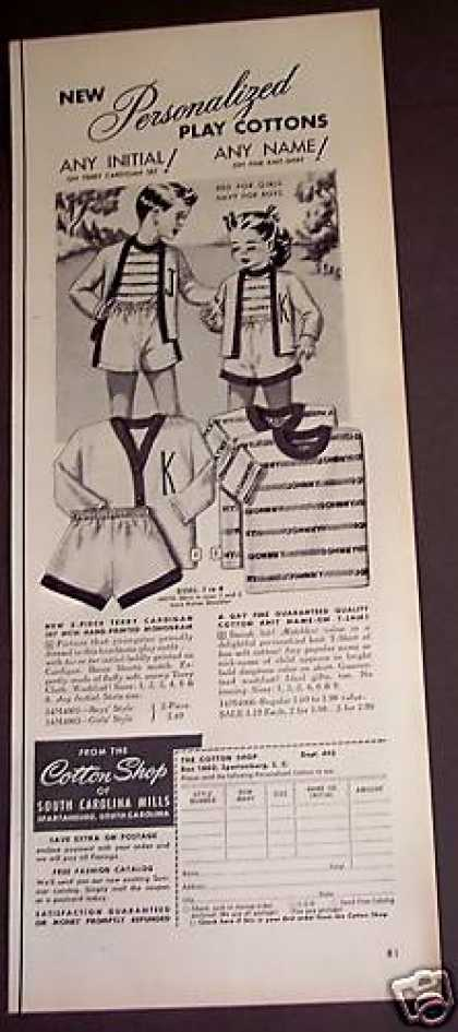 Personalized Play Cottons Kids Clothes (1953)