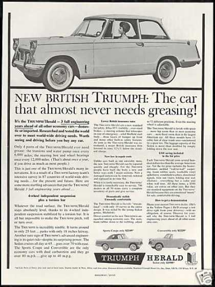 Triumph Herald Car Sedan Coup Convertible Photo (1960)