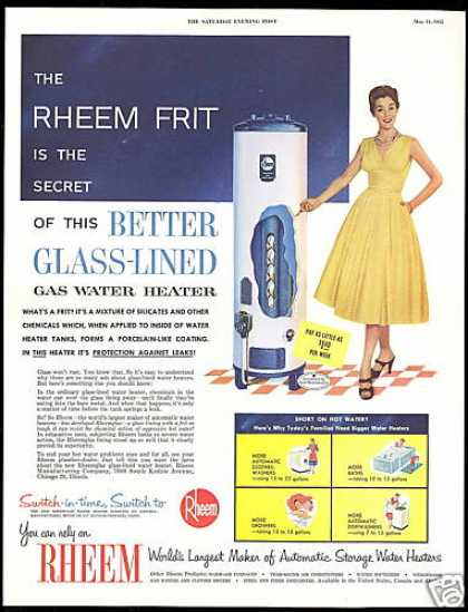 Rheem Gas Water Heater Pretty Woman Photo (1955)