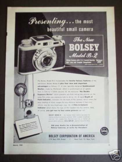 Bolsey B-2 35mm Camera Photo (1949)