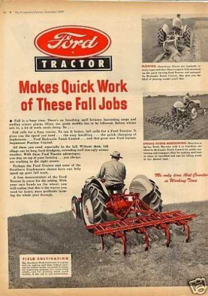 Ford Tractor Ad Centerfold (1948)