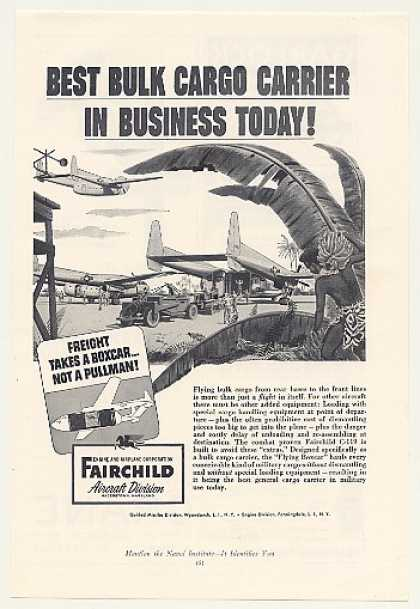 Fairchild C-119 Flying Boxcar Aircraft (1954)