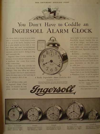 Ingersoll Alarm Clock AND Hoosier Kitchen Cabinet (1928)