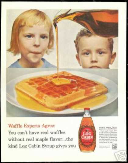 Log Cabin Syrup Waffle Children Experts (1960)