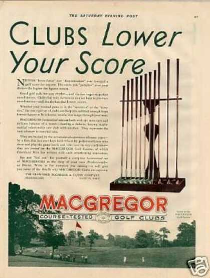 Macgregor Golf Clubs Color (1930)
