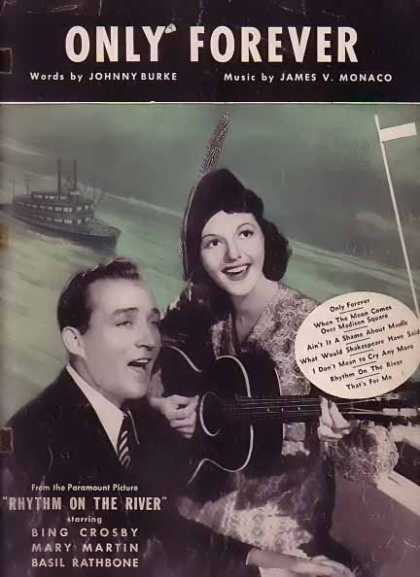Only Forever – Bing Crosby Movie Sheet Music (1940)