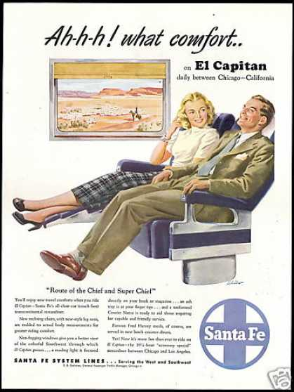 Santa Fe Train Railroad El Capitan Comfort (1948)