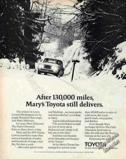 - 1970 Toyota With 130,000 Miles Still Delivers (1972)