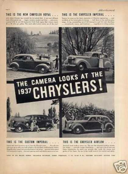 Chrysler Cars Ad 4 Models (1937)