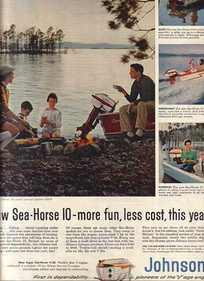 Johnson's Sea-Horse 10 Outboard Engine (1958)
