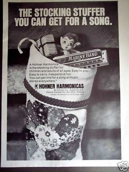 Hohner Marine Band Harmonica Stocking Stuffer (1977)