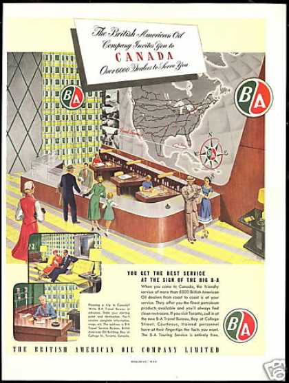 BA B-A British American Oil Canada Art (1951)