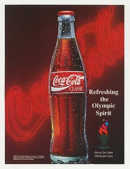 Coke Coca-Cola Classic Bottle Olympic Games (1995)