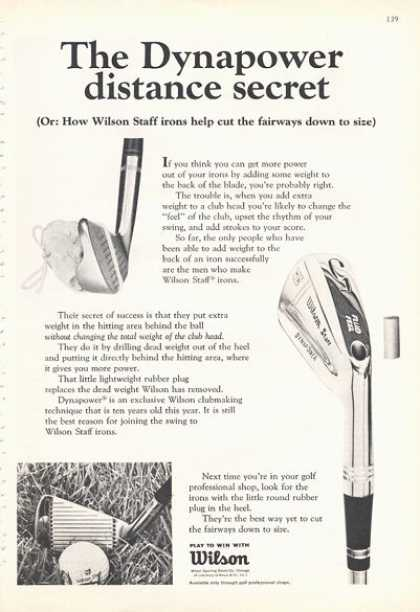 Wilson Dynapower Golf Clubs (1966)